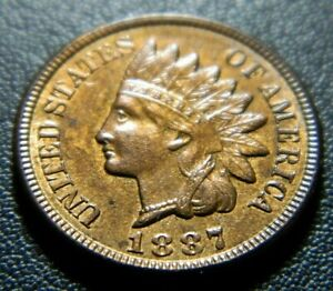 1887 INDIAN CENT 595