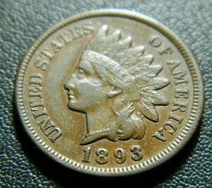1893 INDIAN CENT 599