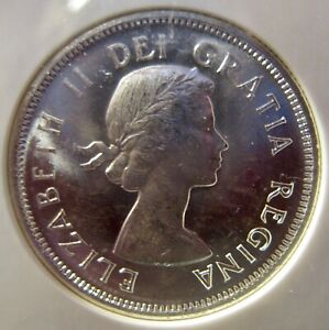1959 CANADIAN QUARTER GRADED BY NGC MS64