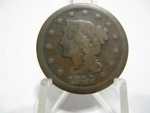 LY  1844 LARGE CENT FINE CONDITION NFM551