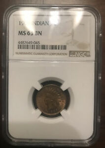 1909 INDIAN HEAD CENT MS63 BN NGC