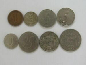 LOT OF 8 DIFFERENT ECUADOR COINS   1946 TO 2003   CIRCULATED
