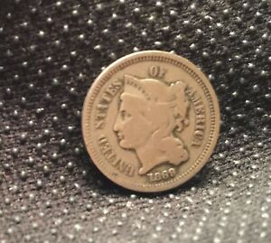 1869 3 CENT NICKEL GREAT TYPE COIN   [SF137]