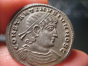 Click now to see the BUY IT NOW Price! AUTHENTIC  ROMAN SILVER COIN CONSTANTINE II  317 337 AD MILIARENSE  4.49G