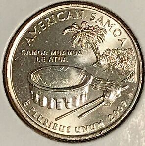 2009 P AMERICAN SAMOA WASHINGTON QUARTER   FROM UNCIRCULATED MINT ROLL