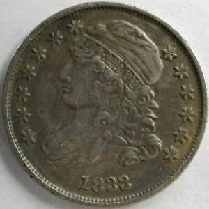 1833 UNITED STATES CAPPED BUST DIME   XF