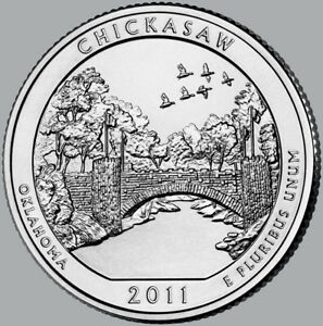 2011 UNCIRCULATED P & D CHICKASAW NATIONAL RECREATION AREA QUARTERS
