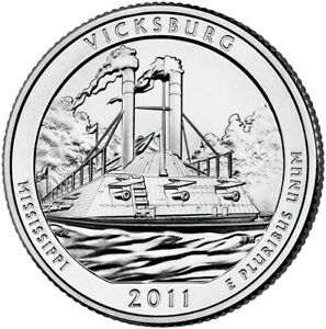 2011 UNCIRCULATED P & D VICKSBURG NATIONAL MILITARY PARK QUARTERS