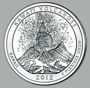 2012 UNCIRCULATED P & D HAWAII VOLCANOES NATIONAL PARK QUARTERS