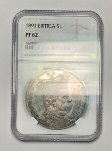 Click now to see the BUY IT NOW Price! NGC PF62 ERITREA 1891 5 LIRE