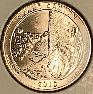 2010 D GRAND CANYON WASHINGTON QUARTER FROM UNCIRCULATED ROLL