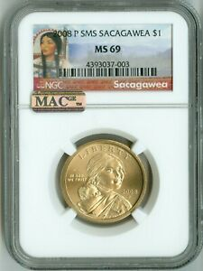 Click now to see the BUY IT NOW Price! 2008 P NGC MS69 SMS SACAGAWEA NATIVE AMERICAN DOLLAR $1 TOP REGISTRY SPOTLESS