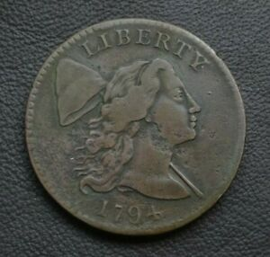 1794 LIBERTY CAP LARGE CENT VF DETAILS     EDGE LETTERING WELL DETAILED S 22