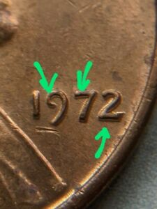1972 LINCOLN PENNY MACHINE DIE ERROR UNIQUE COIN CENT COLLECTIBLE  ONE