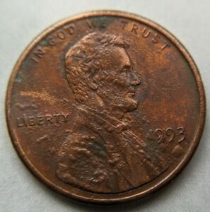 1993 BUBBLY LINCOLN CENT COLLECTABLE COIN  PENNY ERROR