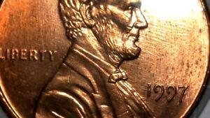 1997   LINCOLN UNCIRCULATED OFF CENTER CENT