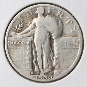 1930 S STANDING LIBERTY QUARTER VG  90  SILVER   ACTUAL COIN PICTURED