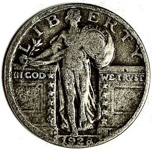 1928 D UNITED STATES SILVER STANDING LIBERTY QUARTER   VG