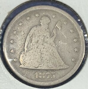 1875 S SEATED LIBERTY 20 CENT PIECE