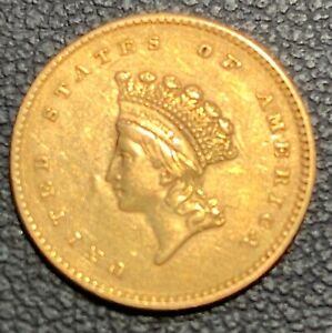1854 INDIAN PRINCESS SMALL HEAD $1 GOLD COIN TYPE II