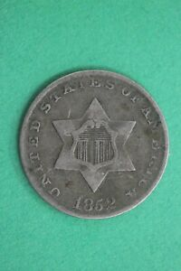 1852 TRIME 3 CENT SILVER COIN EXACT COIN SHOWN COMBINED SHIPPING OCE 30