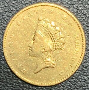 1855 UNITED STATES INDIAN PRINCESS SMALL HEAD $1 GOLD COIN TYPE II