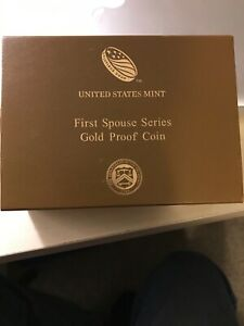 FRANCES CLEVELAND TERM 1 FIRST SPOUSE PROOF GOLD  BOX W/COA.  NO COIN.