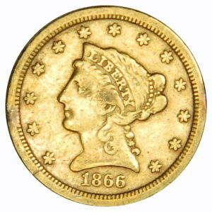 1866 S $2 1/2 GOLD LIBERTY HEAD QUARTER EAGLE   PRICED RIGHT
