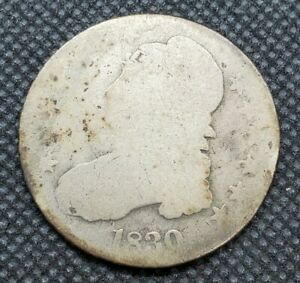 1830  SMALL 0  CAPPED BUST HALF DOLLAR | FAIR TO ABOUT GOOD