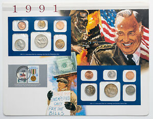 Click now to see the BUY IT NOW Price! 1991 P&D U.S MINT SET SCHWARZKOPF LEADS DESERT STORM VICTORY PARADE TONED COINS