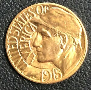 1915 S PANAMA PACIFIC EXPOSITION ONE DOLLAR GOLD COMMEMORATIVE