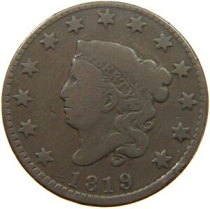 UNITED STATES LARGE CENT 1819 A07 325