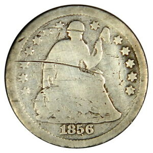 1856 SEATED LIBERTY HALF DIME   BOLD DATE   PRICED RIGHT