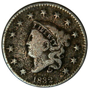 1832 LARGE CENT   FINE CLEAR DATE   PRICED RIGHT