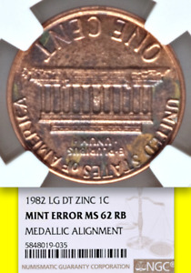 Click now to see the BUY IT NOW Price! 1982 NGC MS62 MEDALLIC ALIGNMENT PATTERN? LY  ON LINCOLN ZINC CENT 1C