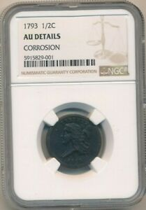 Click now to see the BUY IT NOW Price! 1793 LIBERTY CAP HALF CENT INCREDIBLY   NGC GRADED AU DETAILS SHIPS FREE