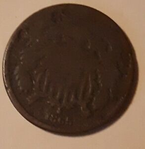 TWO CENT PIECE FROM 1865 GOOD CONDITION