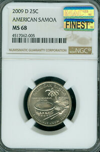 Click now to see the BUY IT NOW Price! 2009 D AMERICAN SAMOA  QUARTER NGC MAC MS68 MAC FINEST & SPOTLESS ..