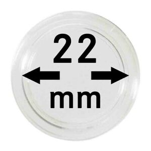 LINDNER 2250022P CAPSULES 22 MM FOR TRAYS PACK 10