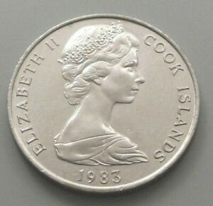 COOK ISLANDS 20 CENTS 1983 DB58 WW