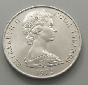 COOK ISLANDS 20 CENTS 1972 DB55 WW