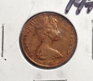 CIRCULATED 1973 2 CENT NEW ZEALAND COIN   92115