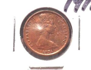CIRCULATED 1976 1 CENT NEW ZEALAND COIN    71215