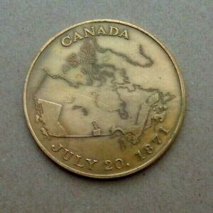 1971 BRITISH COLOMBIA CENTENARY OF CONFEDERATION WITH CANADA COMMEMORATIVE COIN
