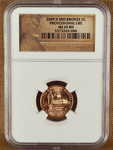 2009 D SMS PROFESSIONAL LIFE LINCOLN CENT NGC MS69RD 269006
