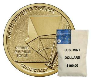 Click now to see the BUY IT NOW Price! P & D $100 US MINT BAGS 2020 CONNECTICUT AMERICAN INNOVATION DOLLARS MINT $200