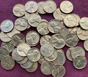ROLL OF UNCIRCULATED/BU 1968 D   LINCOLN MEMORIAL PENNIES