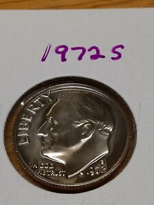1972 S CLAD PROOF ROOSEVELT DIME WITH TONING