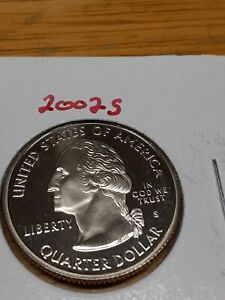 2002 S DEEP CAMEO CLAD PROOF MISSISSIPPI STATE QUARTER