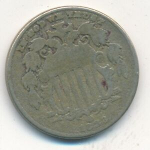 1883 SHIELD NICKEL LAST YEAR MINTED  A NICE CIRCULATED NICKEL SHIPS FREE